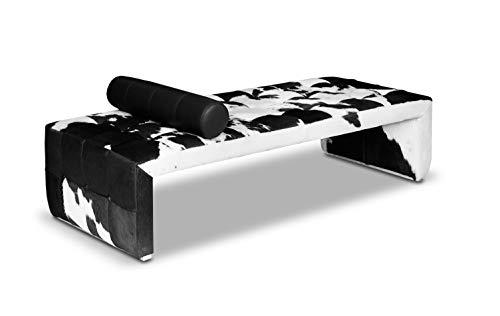 NEUERRAUM Kuhfell Leder Daybed Tagesbett Chaiselongue Recamière Cube Handgefertigt Echtes Leder. Ausgefallener Eyecatcher, Wow.