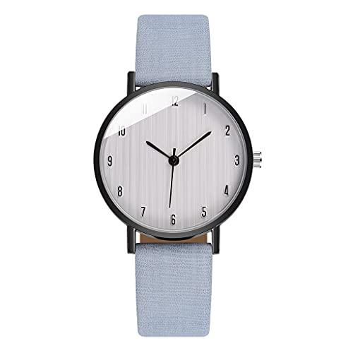 Ladies Watch, Ladies Casual Quartz Leather Strap, Strap Analog Watch (Color : Blue)