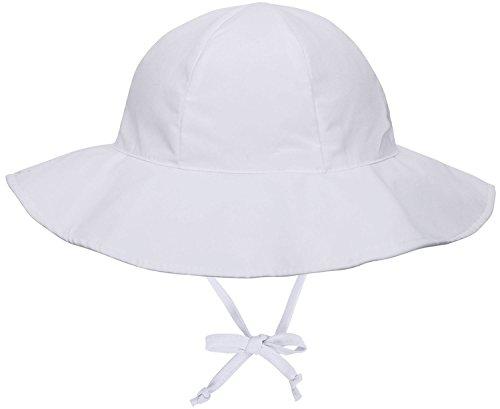 Baby UPF 50+ UV Sun Ray Protection Hat Wide Brim Bucket Sun White