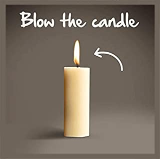 BEARHOHO Escape Room Props Blow Candle to Unlock Controll 12V EM Lock or Light (with Audio Version, 1PC Candle)