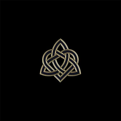 5D DIY Diamond Painting Kits Black Celtic Trinity Heart Knot Real Drawing Interesting Pop Art Full Drill Painting Arts Craft Canvas for Home Wall Decor Full Drill Cross Stitch Gift 12x16 Inch