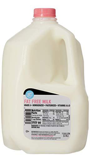Amazon Brand - Happy Belly Fat Free Skim Milk, Gallon, 128 Ounces