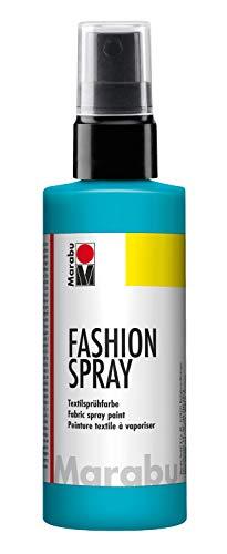 Marabu - Vernice per Stoffa con erogatore Spray, 100 ml, Colore: Blu Caraibi