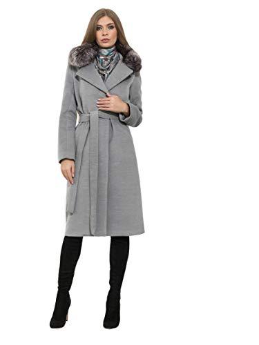BlueMary mantel met afneembare bontkraag