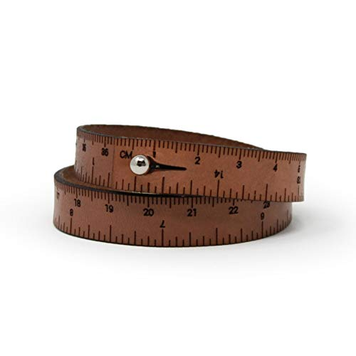 WRIST RULER Medium Brown 15"