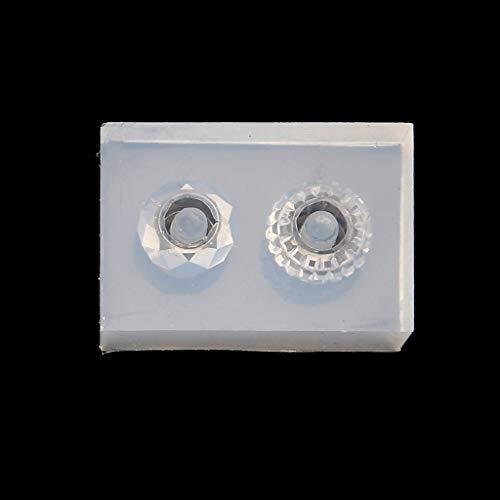 MAOSUO Molde de silicone grande buraco miçanga pingente adicionar uma pulseira de contas de resina ferramenta de artesanato,