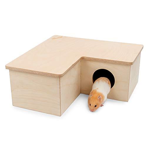 Niteangel Multi-Chamber Hamster House Maze: - Multi-Room Hideouts & Tunnel Exploring Toys for Hamster Gerbils Mice Lemmings (3-Room Large)