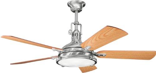 Kichler 300018BSS 56-Inch Hatteras Bay Fan, Brushed Stainless Steel