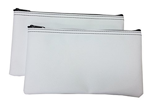 Zipper Bags Poly Cloth Value Package of 2 Bags (White)
