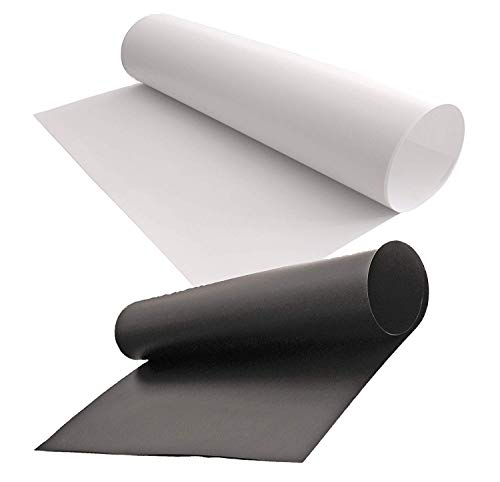 PVC 背景紙 商品 小物 撮影 白 黒 つや消し 光沢 両面バックペーパー ミラー 両面仕様 60cm*130cm(黒1...