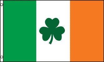 Trèfle irlandais 5 'x3'Flag