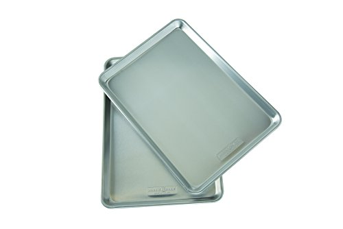 Nordic Ware Natural Aluminum Commercial Baker's Half Sheet Pan (2 Pack)
