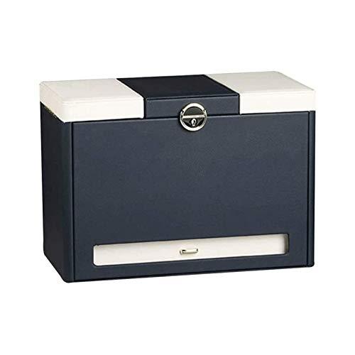 SSHA Joyero Caja de Joya Grande de Cuero sintético Caja de Regalo Caja de joyería Collar Anillo de Almacenamiento Organizador Organizador de Joyas (Color : B)