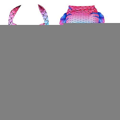 Qiterr Mädchen Badeanzug Fishtail Sea Maid Bikini Set(140)