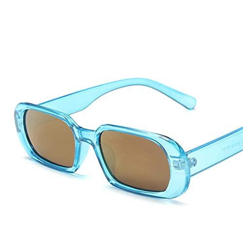 Gefüllte Gafas De Sol Pequeñas para Mujer, Gafas De Sol Ovaladas A La Moda para Hombre, Gafas De Viaje para Mujer, Retro, Negro, Azul, Estilo Uv400