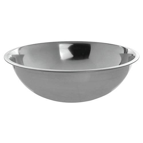 Stainless Steel Mixing Bowl 6 Quart 24 Gauge – 12 1/2″Dia x 4″D – HUBERT