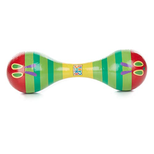 World of Eric Carle Caterpillar Wood Maraca Instrument for Kids