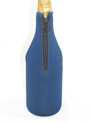 Neopren Kühler Jacke/Tasche für Flasche Champagner oder weiß Wein dunkelblau