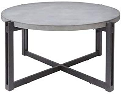 Amazoncom We Furniture 36 Coffee Table With X Base Faux Marble