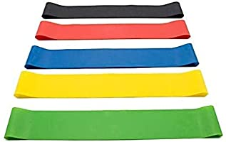 Upeak 5PCS/Set Resistance Band fitness 5Levels Latex Gym Strength Training Rubber Loops Bands Fitness CrossFit Equipment...