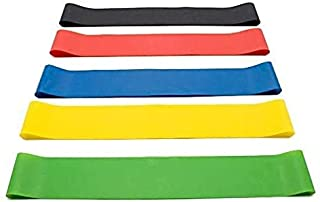 Upeak 5PCS/Set Resistance Band fitness 5Levels Latex Gym Strength Training Rubber Loops Bands Fitness CrossFit Equipment Y...