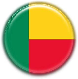Benin : Bandera Nacional, Pinback Button Badge 1.50 Inch (38mm)