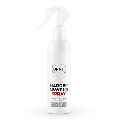 DFNT Marderabwehr Spray | 250ml Biologisch abbaubares Marderspray | Marderschreck & Marderfalle Alternative | Effektiver Maderschutz für Auto