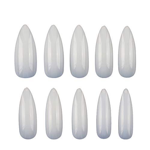 Ebanku 600 Stück Stiletto Künstliche Nägel Fingernägel Nagelspitzen Tips in 10 Größen, voll Deckend Mittelgroß Scharfe Ende Nagel-Stiletto Nails False Nail Tips