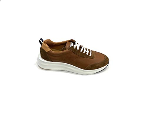 Rouge à lèvres Sneakers marron en cuir vieilli et chamois - Marron - marron, 42/45 EU EU