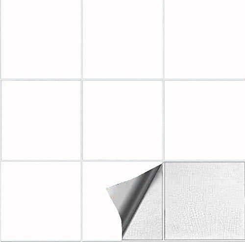 Abnaok - Adhesivo para azulejos de cocina y baño (15 x 15 cm, 50 unidades)