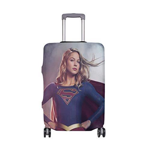 IUBBKI Funda de Equipaje de Viaje Supergirl Beauty Protector de Maleta Se Adapta a M Fundas de Equipaje Lavables
