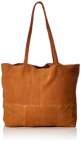 PIECES dames PCALEX Leather FC Shopper, cognac, 51x36x11