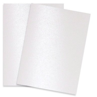 PaperPapers Shimmer Snow White 8.5X11 32T Lightweight Multi-use Paper 200-pk - 2pBasics 32T Letter Size Everyday Metallic Paper for Professionals, Designers, and Crafters Pure Snow White,200-PK