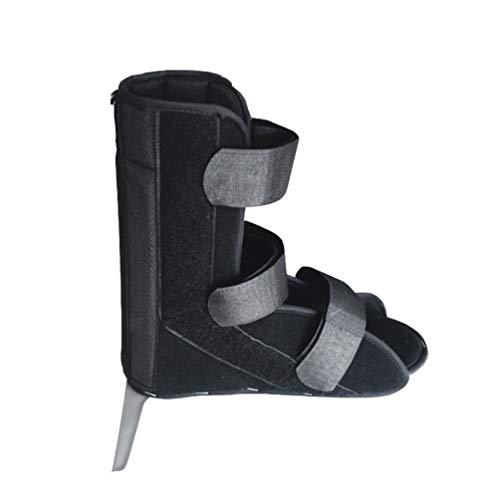 HEALLILY Zapato Postoperatorio Botín Médico Ajustable para Caminar Post Lesión Quirúrgico Pie Moldeado Dedo Ortopédico Soporte Ortopédico para Fractura de Hueso Roto (Negro) Tamaño M