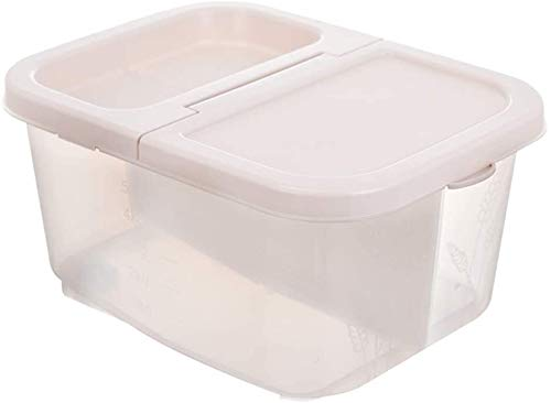 Storage jar Keuken Storage Box Voedsel Container van de Opslag - 2 Grid Design - Plastic Drogen Container - Geschikt for het opbergen Pasta -Opslag doos keuken