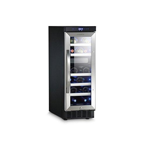 Dometic MaCave D15, 2 Zonen Wein-Kühlschrank für 17 Flaschen, Weintemperierschrank klein +5 °C bis +22 °C, Wein-Klimaschrank, UV-Glas
