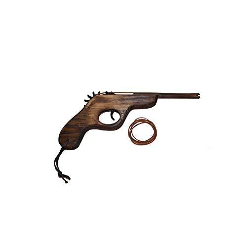 Juguetutto - Pistola de Vaquero con Gomas - Juguete de Madera