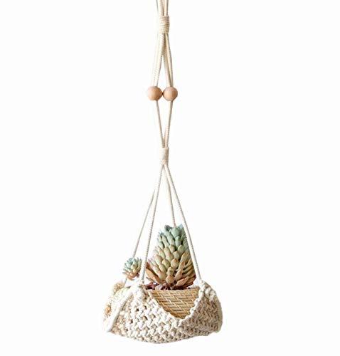 Macrame Plant Hanger Handmade Cotton Rope Wall Hangings Home Decor,30' L