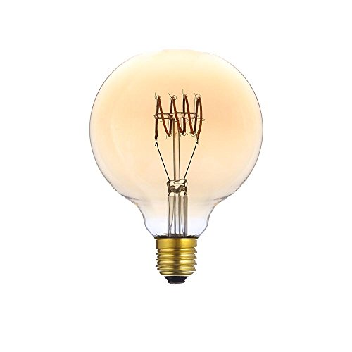Laes 987423 Globe Filament LED E27, 3 W, ambre, 95 x 138 mm