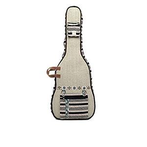 The House of Tara Multicolor Ethnic Handloom Fabric Acoustic Guitar Bag 1