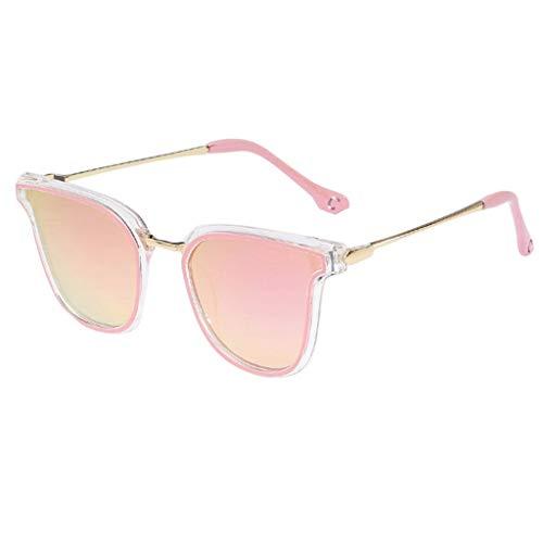 TANGTANGYI Sonnenbrille Damen Frameless Katzenauge Aushöhlen Irregulär Augenschutz Oval Süssigkeiten Farben Transparent Ultralight Frame Anti-blaues Licht Outdoor-Brille Travel Beach/F5