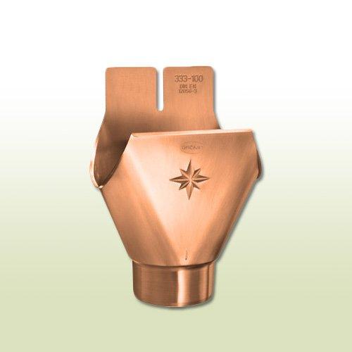 Kupfer Einhangstutzen oval RG 333 für Fallrohr DN 100