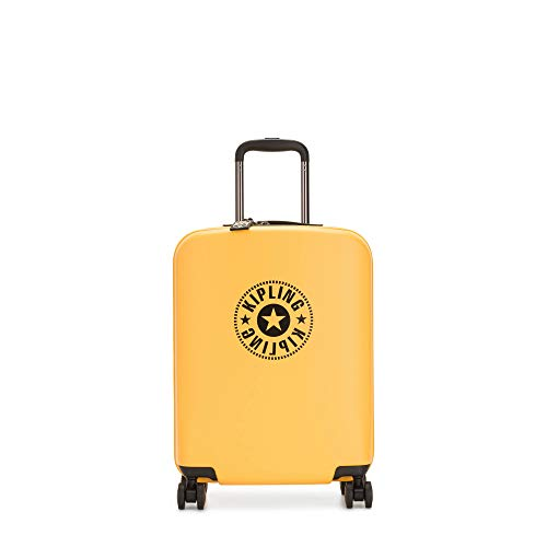 Kipling Curiosity Small 4 Wheeled Rolling Luggage Vivid Yellow Nc