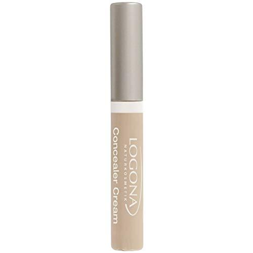 LOGONA Naturkosmetik Concealer Cream No. 01 Pearl, Abdeckcreme für Augenschatten und Pickel, Heller Hautton, Natural Make-up, mit Anti-Aging-Wirkung, Bio-Extrakte, Vegan, 5 ml