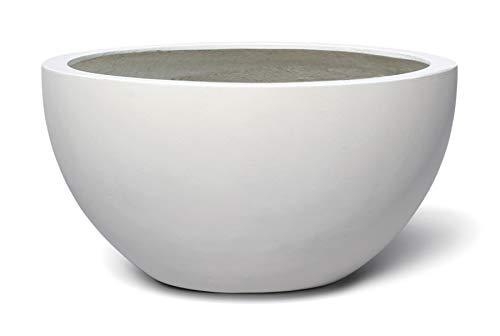 VAPLANTO® Pflanzkübel Low Egg Pot 35 Weiß Schale * 33 x 33 x 16 cm * 10 Jahre Garantie