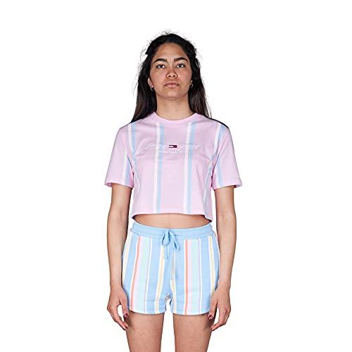 Tommy Hilfiger Jeans TJW Stripe 2 Crop Tee Camiseta Mujer DW0DW10962 TOJ...