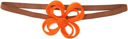 Love Hair Extensions - LHE/X/FLOWER/F/EB/NORANGE - Fleur Bandeau en Elastique - Néon Orange