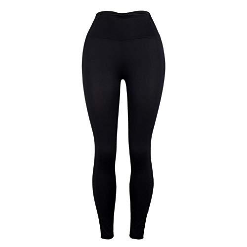 MQQM Push up Yoga Leggings de Cintura,Pantalones de Yoga Super elásticos de la Cintura Alta, Leggings Slim Hips-Negro_L,Opacas Cintura Alta Yoga Medias