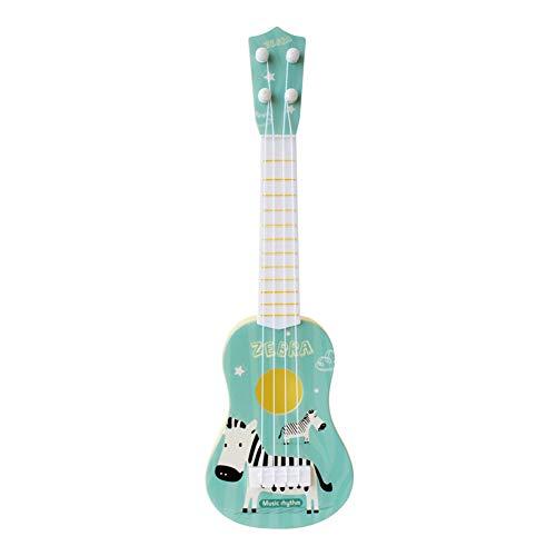 FeMereina Guitarra de Los Niños, Juguete Lindo del Instrumento del Ukelele del Animal de La Historieta Mini para El Juego Temprano de la Educación del Bebé (Cebra Azul, 10.5x36cm)