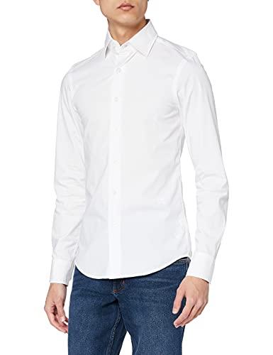 G-STAR RAW Herren Core Super Slim Shirt' Jeanshemd, Weiß (white 110), Small